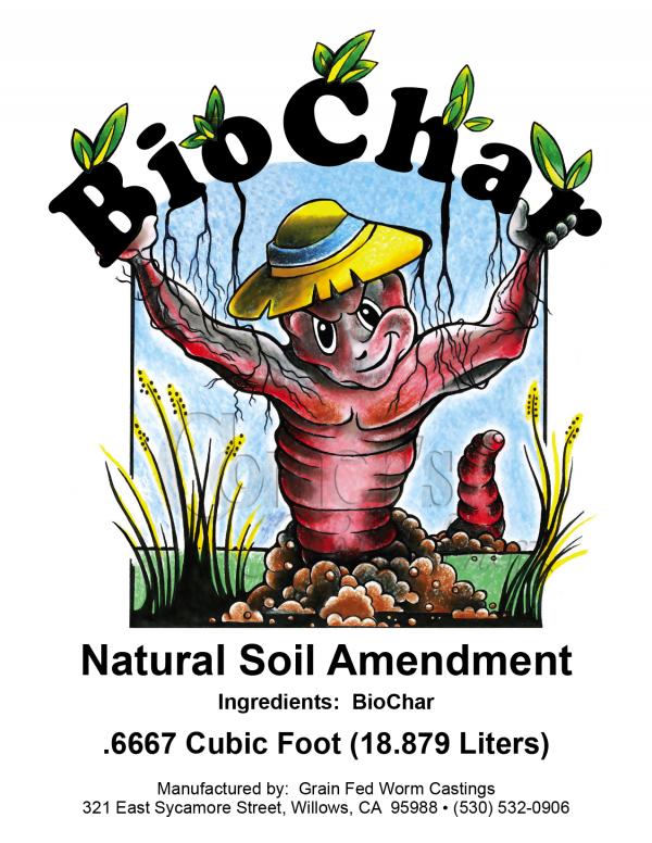 BioChar Label (4.25×5.5) Natural Soil Amendment (.6667 Cubit Foot) PROOF-01